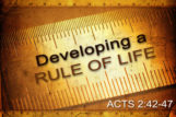 Developing a Rule of Life
