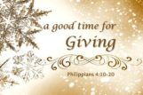 Christmas is a Good Time for Giving