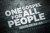 One Gospel For All People