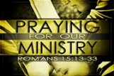 Praying For Our Ministry